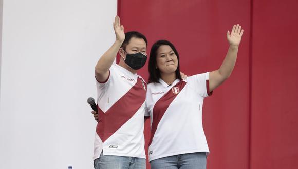 Keiko Fujimori reapareció públicamente junto a su hermano Kenji. (Foto: Jessica Vicente / @photo.gec)