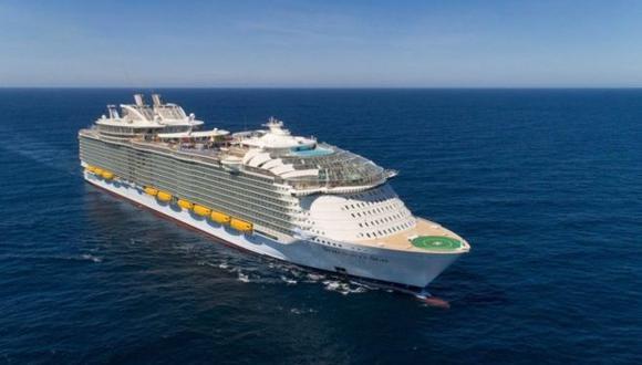 """El """"Sinfonía de los Mares"""" es el barco de pasajeros más grande del mundo construido hasta ahora."""