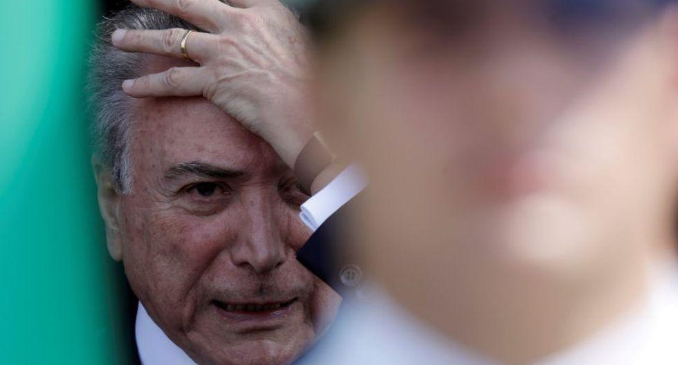 La situación de Temer cambió el 1º de enero, cuando dejó de beneficiarse de los fueros políticos y sus casos pasaron a manos de tribunales de primera instancia. (Foto: Reuters)