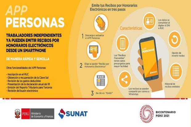 La emisión se los recibos por honorarios electrónicos se realiza en sencillos pasos (Imagen: Sunat)