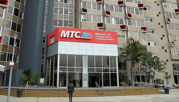 El Ministerio de Transportes y Comunicaciones (MTC). (Foto: GEC)