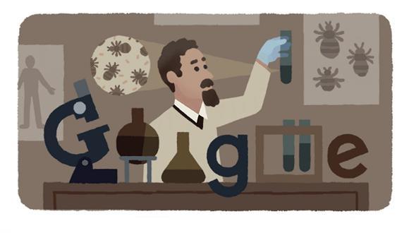 Celebran el 138º aniversario del nacimiento de Rudolf Weigl con un doodle. (Foto: Google)