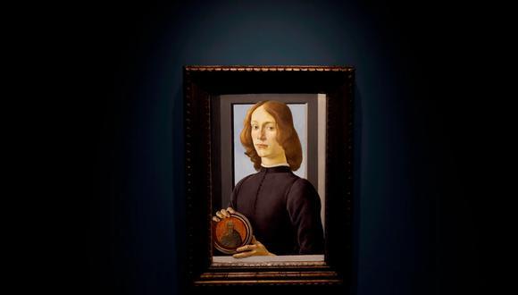 """""""Solo han sobrevivido una docena de retratos pintados por Botticelli. Conocemos """"El nacimiento de Venus"""", """"La Primavera"""", muchas madonas, pinturas religiosas, mitológicas... (Foto: EPA-EFE/Peter Foley)"""