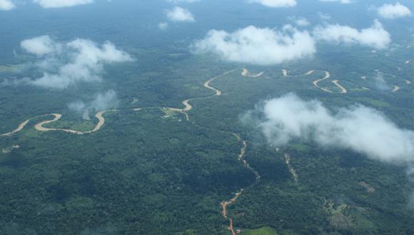 Vista árera de la selva de Ucayali. (Foto: El Comercio)
