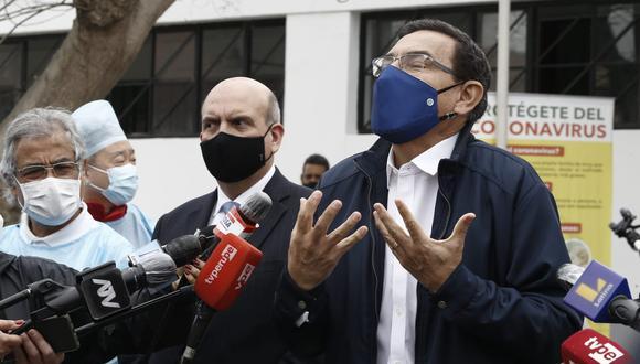 El presidente Martín Vizcarra dijo que responde a la nueva moción de vacancia trabajando en todas las regiones. (Foto: Presidencia)