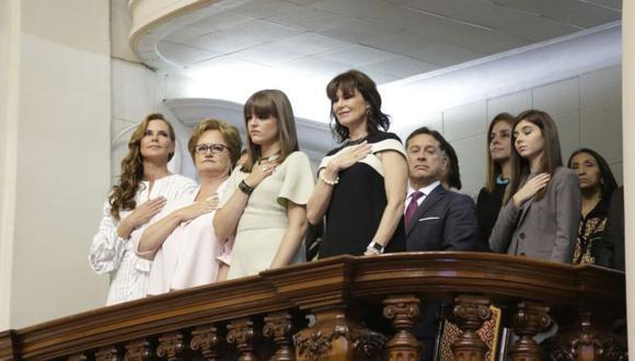 Sepúlveda estuvo ubicado en el palco que ocupaba la familia de PPK cuando asumió la presidencia del Perú. (Foto: Presidencia del Perú)