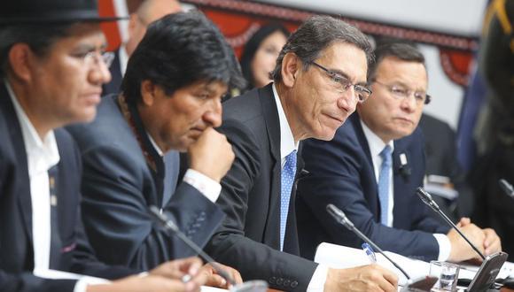 Declaración de Ilo, tras el Encuentro Binacional entre Perú y Bolivia (Foto: Presidencia)