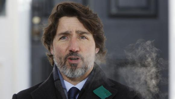 Justin Trudeau, Canada's prime minister, speaks during a news conference in Ottawa, Ontario, Canada, on Friday, Jan. 29, 2021. Trudeauis introducing sweeping new restrictions on international travel in a bid to stem the spread of new variants of Covid-19 into the country. Photographer: David Kawai/Bloomberg