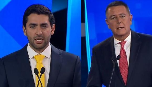 Luis Castañeda Pardo (Solidaridad Nacional) y Jaime Salinas (Alianza Para el Progreso) participaron en el debate municipal para las elecciones 2018. (Foto: Twitter)