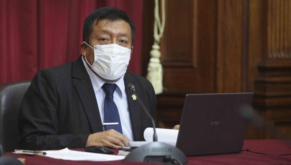 Carlos Pérez señala que no aceptará presiones de ningún tipo. (Foto: Congreso)