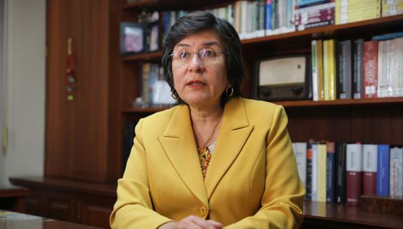 """""""Sencillamente lo que ha pasado es que el TC no tiene nada que decir sobre la situación del señor Vizcarra de que lo hayan sacado"""" lamentó Marianella Ledesma. (Foto: GEC)"""
