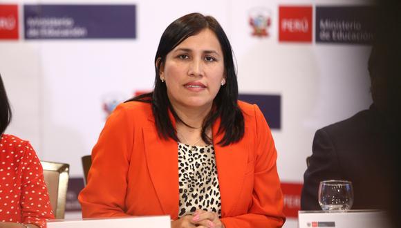 Flor Pablo se mantuvo en el cargo de ministra de Educación hasta inicios de febrero. (Foto: GEC)