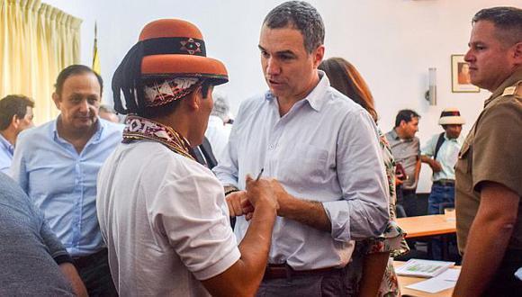 El premier Salvador del Solar dijo que habríapersonas que buscan generar inseguridad en el presidente de la comunidad de Fuerabamba, Gregorio Rojas. (Foto: Reuters)