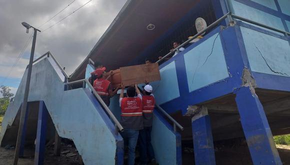 El sismo afectó varios colegios de Loreto. (Ministerio de Educación)