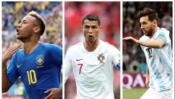 Cristiano Ronaldo, Lionel Messi y Neymar Jr. (Foto: Edición/ Reuters)