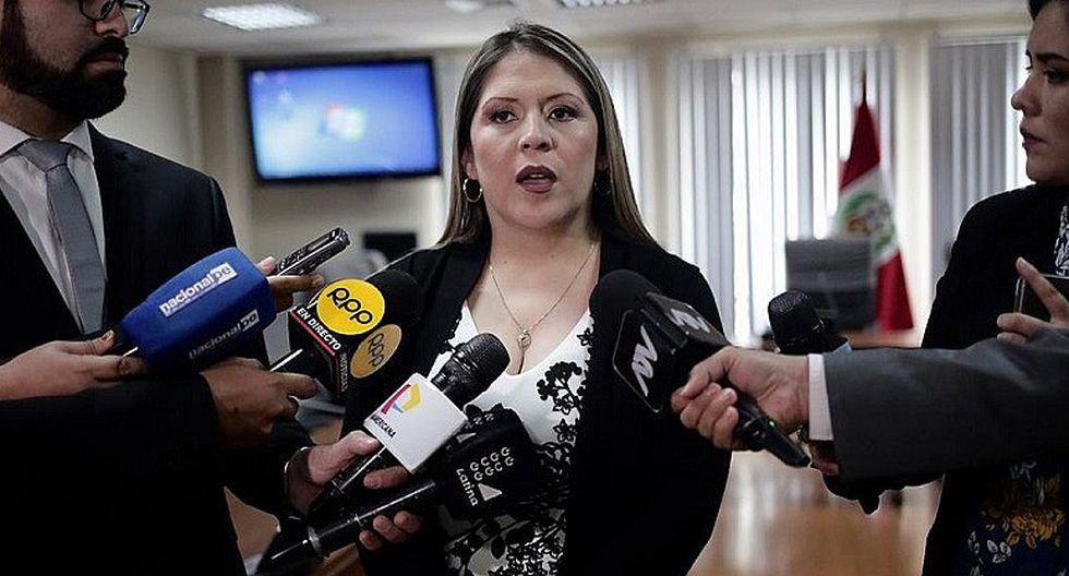 Yeni Vilcatoma fue elegida congresista con Fuerza Popular. Ahora busca la reelección con Solidaridad Nacional. (Foto: GEC)