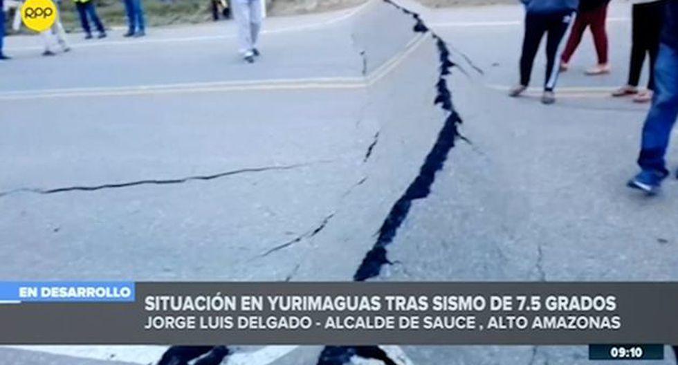 Pide al presidente Martín Vizcarra, una inspección en su localidad ante las consecuencias por el fuerte sismo. (Foto: Captura RPP)