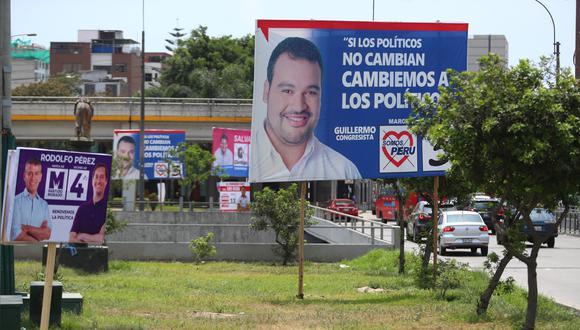 El Jurado Electoral Especial (JEE) de Lima Oeste 1 viene analizando los casos de presunta propaganda electoral indebida  FOTOS: ALESSANDRO CURRARINO/EL COMERCIO