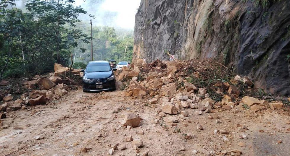 Daños en carretera Tarapoto - Yurimaguas