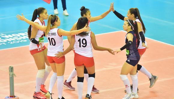 La selección peruana de Voelibol sub 18 sumó su segunda victoria en el Mundial Egipto 2019. (Foto: FIVB)