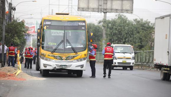 La ATU iniciará con el otorgamiento del subsidio económico para los prestadores del servicio de transporte a partir del 23 de agosto. (Foto: GEC)