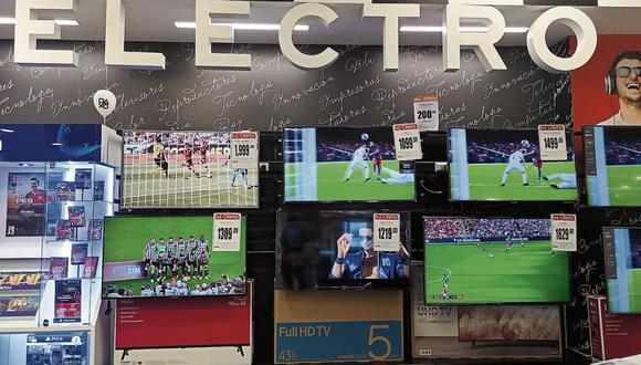 Visión. Ticket promedio de televisores se ubica en S/ 1,430. (Foto: Claudia Llontop | GEC)