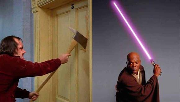 """El sable de luz manejado por Samuel L. Jackson en """"Star Wars"""" podría venderse por hasta 100,000 libras (109,000 euros/US$ 120,600)."""