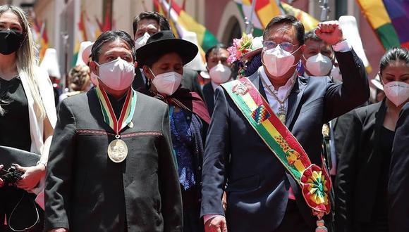 El presidente de Bolivia, Luis Arce, vendrá al Perú para la investidura de Pedro Castillo el 28 de julio. (Foto: EFE/ Martin Alipaz)