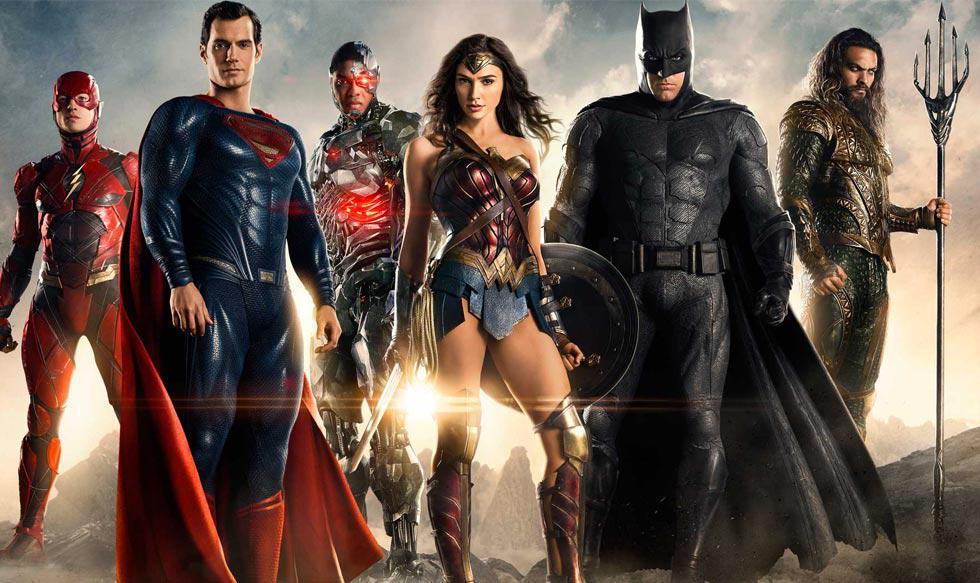 """FOTO 1   """"Justice League"""", la esperada alianza de los superhéroes formada por Batman (Ben Affleck), Wonder Woman (Gal Gadot), Aquaman (Jason Momoa), Cyborg (Ray Fischer) y Flash (Ezra Miller) recaudó US$ 96 millones entre el viernes y el domingo"""