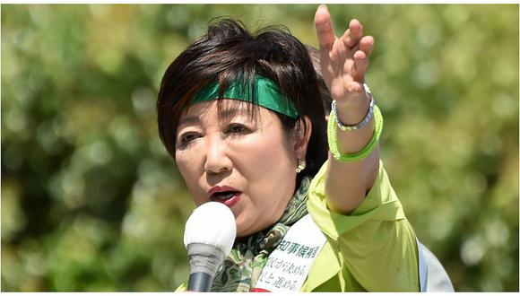 Gobernadora de la capital japonesa, Yuriko Koike.