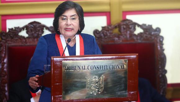 Marianella Ledesma, presidenta del Tribunal Constitucional. (Foto: GEC).