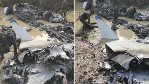"""Venezuela inutiliza """"aeronave del narcotráfico"""" cerca de límite con Colombia. (Instagram: reverolnestor)."""