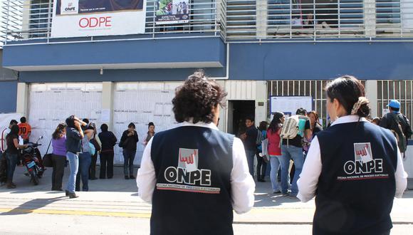 La ONPE realizará elecciones internas en los 25 partidos políticos de cara a los comicios del 2021. (Foto: Andina)