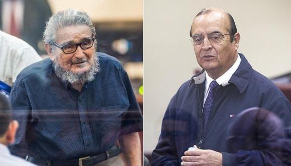 Abimael Guzmán, cabecilla del grupo terrorista Sendero Luminoso, y Vladimiro Montesinos, ex asesor de Alberto Fujimori. (Foto: AFP / El Comercio)