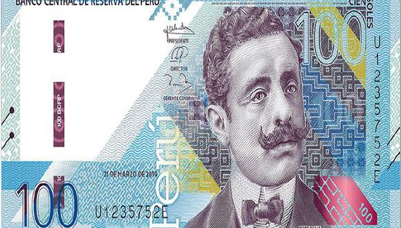 El billete con la imagen de Pedro Paulet forma parte de la nueva familia de billetes que ha puesto en circulación el BCR. (Foto: BCR)