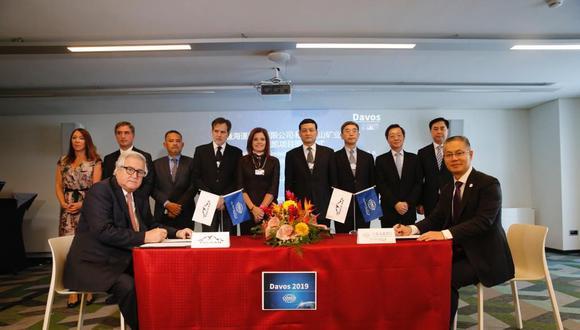 En Davos se firmó el acuerdo entre Volcan Compañía Minera y Cosco Shipping Ports (CSP). (Foto: Difusión)