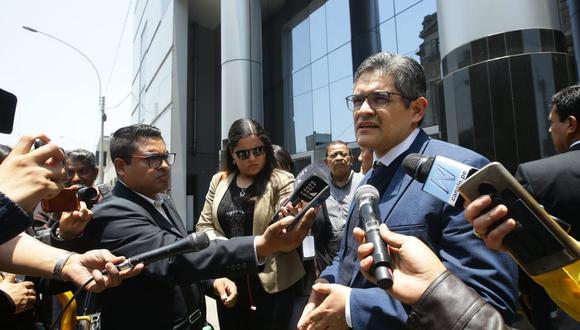 El fiscal José Domingo Pérez participó de la audiencia reservada en la que se debatió si Odebrecht debe recuperar o no los S/524 millones. (Foto: Jesús Saucedo)