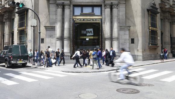 El indicador S&P/BVL Perú General, el más representativo de la bolsa, subía un 1.44%. (Foto: GEC)