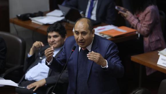 El legislador Richard Arce criticó que en un momento de la sesión del pleno no se haya permitido el ingreso del primer ministro Salvador del Solar. (Foto: Anthony Niño de Guzmán / GEC)