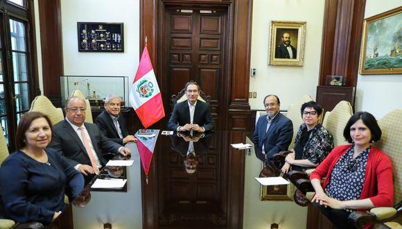 La Comisión de Alto Nivel para la Reforma Política tendrá listo en dos meses propuestas para la reforma política.  (Foto: Twitter @presidenciaperu)