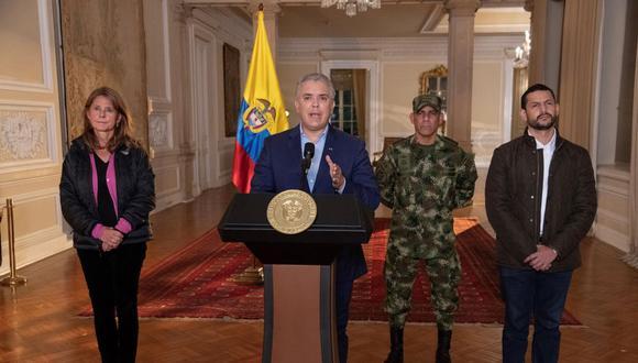 El presidente de Colombia, Iván Duque, dijo que sacará a los militares a las calles a enfrentar las protestas contra la reforma fiscal. (Foto: EFE).
