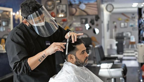 Las peluquerías volverán a atender en marzo, pero con previa cita. (Foto: Anthony Niño de Guzman \ GEC)