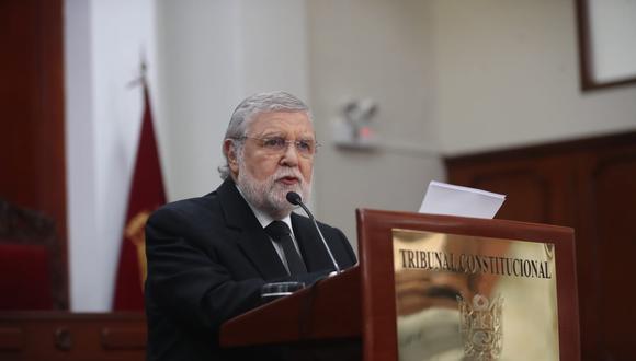 Ernesto Blume destacó la elección de Marianella Ledesma y Augusto Ferrero como presidenta y vicepresidente del TC. (Foto: Giancarlo Ávila / GEC)