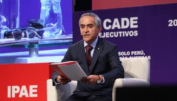 """""""Los jueces y fiscales son evaluados todos los días"""", dijo el presidente del Poder Judicial, Duberlí Rodríguez. (Foto: CADE 2017)"""