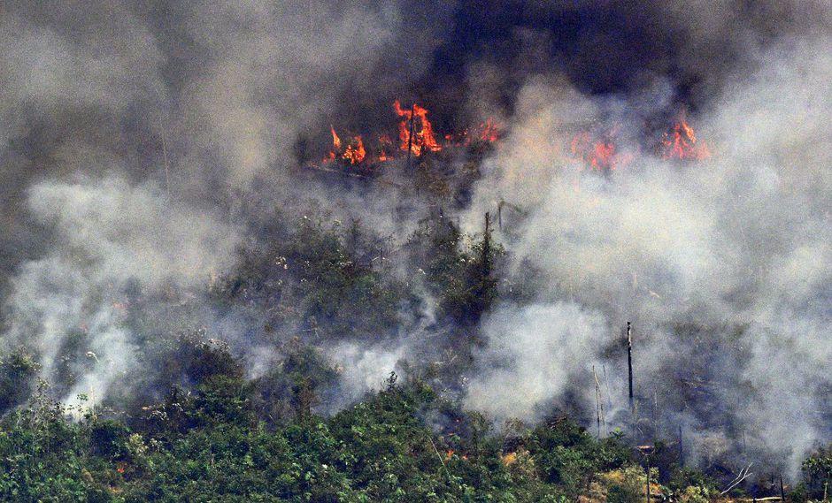 Los fotos reales del incendio en Amazonas. (Foto: AFP)