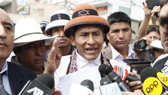 Los comuneros liderados por Gregorio Rojas también exigen la renuncia de los titulares del MTC y de Energía y Minas. (Foto: César Campos / GEC)
