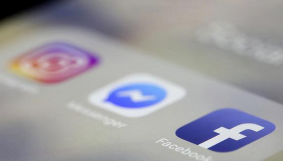 Apps de Facebook, Messenger e Instagram.