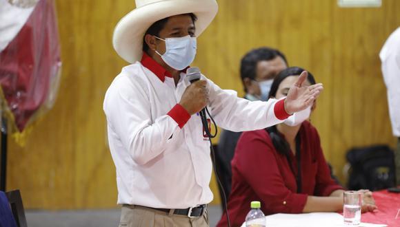 El candidato presidencial Pedro Castillo. (Foto: César Bueno / @photo.gec).