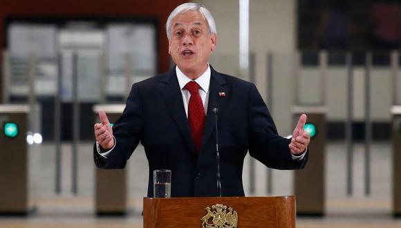 Sebastián Piñera, presidente de Chile. (Foto: AFP)