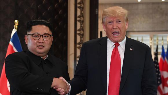 Culminó la histórica cumbre, celebrada en Singapur, entre el presidente de EE.UU., Donald Trump, y el líder norcoreano, Kim Jong Un. (Foto: AFP)